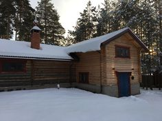 The Lodge dressed in winter.