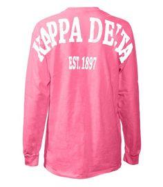 62ff2ac7 Fashion Greek Zeta Tau Alpha Stadium Shirt: Show your Zeta Tau Alpha spirit  with our Famous Stadium Shirts! Large vintage distress print on Unisex  (Mens) ...