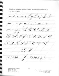 Calligraphy Class - Engrossers Script