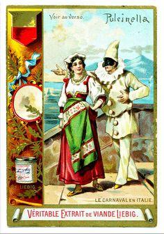 Liebig S276 Carnival Costumes ~ Pulcinella ~ Punch by cigcardpix, via Flickr