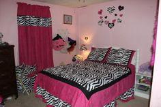 Amazon.com: Hot Pink, Black & White Funky Zebra Teen Bedding 3pc Full / Queen Set: Home & Kitchen