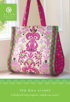 El Bon Vivant bolsa patrón  gran bolso coser 114 por EllenMedlock