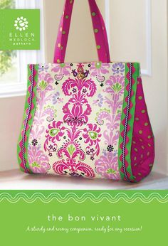 The Bon Vivant Bag Pattern Large Purse Sewing by EllenMedlock