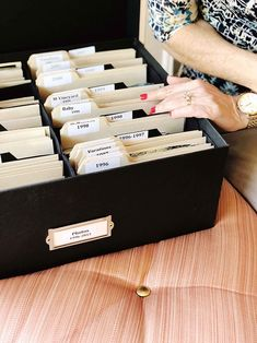 How to Organize your Photo Collection // Photo library organizing tips and strategies // Simply Spaced Organisation Hacks, Library Organization, Storage Organization, Organizing Tips, Project Life Organization, Scrapbook Organization, Organising, Cleaning Hacks, Picture Storage