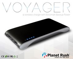 Voyager 3 in 1 QI Cell Phone Wireless Charging Station & Portable Power Bank…