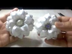Kanzashi flower - YouTube