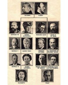 Queen Victoria Family Tree, Milford Haven, Elizabeth Philip, Royal Family Trees, Princess Alice, Prince Andrew, George Vi, Victoria And Albert, Queen Mary