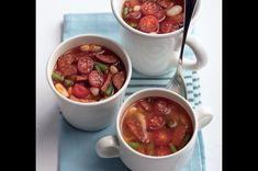 Fazolová polévka s klobásou Chili, Soup, Chile, Soups, Chilis