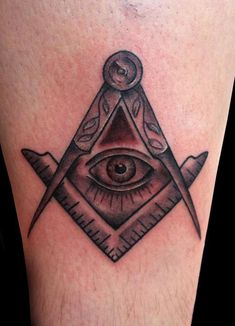 Masonic Square and Compass Tattoo by Adam Lauricella - This tattoo was made for a brother in my lodge. This is the first Masonic tattoo I have done G Tattoo, Chest Tattoo, Get A Tattoo, Freemason Tattoo, Masonic Tattoos, Traditional Tattoo Black And Grey, Black And Grey Tattoos, Tattoo Master, Masonic Symbols