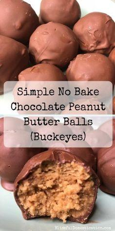 Simple No Bake Chocolate Peanut Butter Balls