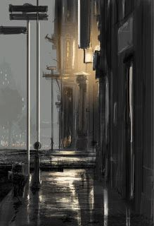 pascal campion: Admit it, it was you. I Miss Your Touch, Rainy Street, Cool Backgrounds Wallpapers, Pascal Campion, Art Day, Great Artists, Insta Art, Aesthetic Anime, Illustrators