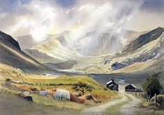 landscape watercolour north wales by David Bellamy