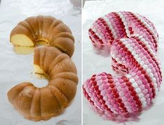 How awesome! A bunt cake turned into a 3 for a kids bday party. (Via Shop Sweet Lulu)