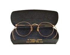 Vintage FUL VUE All Gold Thin Round Frame Eyeglasses by anystore