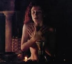 """""""It's a charm..."""" Kim Thomson as Heloise  casting a love spell on Abelard in """"Stealing Heaven."""" (1988) The film about the tragic, true-life, 12th century lovers Abelard & Heloise. Also starring Derek de Lint and Mark Jax."""