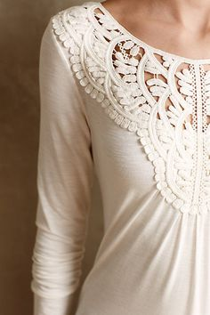 Bobbinlace Tee by Meadow Rue #anthroregistry