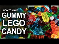 How To Make Edible & Stackable LEGO Gummy Candy | Architecture & Design