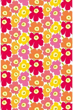Pieni Unikko cotton fabric by Marimekko