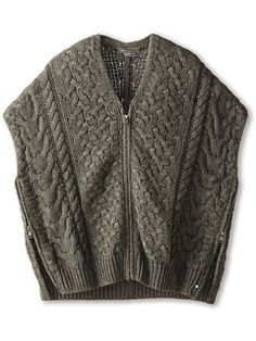 Vince Kids Cable Knit Poncho (Big Kids)