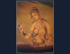 Damsal on Sigiri rck #Creative #Art #Painting @Touchtalent.com