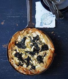 Silverbeet, Rice & Feta Tart / Gourmet Traveller