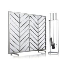 Pewter Fireplace Tools in Fireplace Accessories | Crate and Barrel