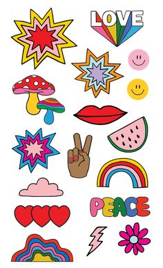 Indie Drawings, Art Drawings, Posca Art, Hippie Painting, Painted Clothes, Hippie Art, Aesthetic Stickers, Indie Kids, Cute Stickers