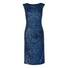 L.K. Bennett Cherry Sequin Body Con Dress Blue - Sequins