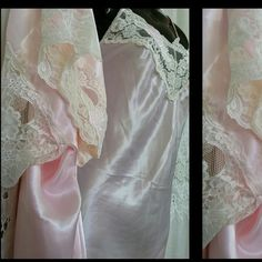 Vintage.  Prettiest 2 Piece. Pink, Ashley Ames Beautiful, Dainty  No Belt for the Robe Shell, loops have been removed  In Great / Excellent Condition Ashley Ames Intimates & Sleepwear Chemises & Slips