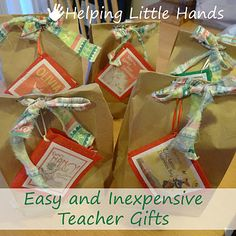 Helping Little Hands: Teacher Gifts & Brown Bag Wrapping
