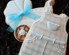 Baby Shower Cookies, Baby Shower Favors, baby girl cookies, dress cookies, baptism cookies, custom cookies, sugar cookies, pink dress cookie by 4theloveofcookies