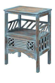 One Drawer Blue Accent Table by Coast to Coast on @HauteLook