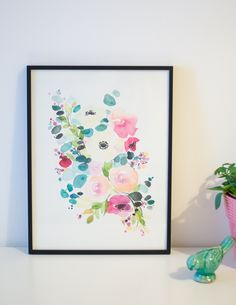 un an aquarelle fleurs watercolors florals-1-2