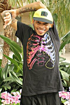 584421876f7 Hats  ) · Sugar and Bruno- Rib Cage Tee and HIP HOP Flat Bill Hat  Dancer Model