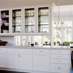 Walls too Windows, Interior Design: Use of glass in kitchen cabinets