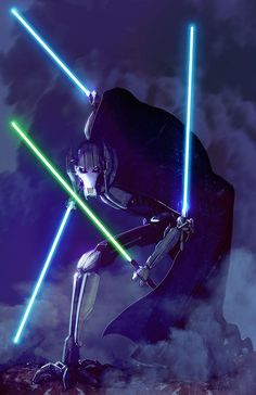 """""""Prepare to forfeit your lightsaber…"""" General Grievous, by Livio Ramondelli. """" View Full Article"""