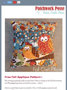 Free Fall Applique Patterns- it\u0027s time to sew!