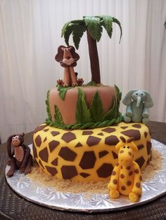 New Baby Safari Birthday Party  and safari birthday party cakes