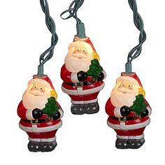 Kurt Adler UL 10Light Santa with Tree Light Set 3Inch >>> Check out this great product.