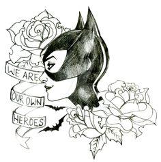 Catwoman: Tattoo Design. by yazie-chan on @DeviantArt
