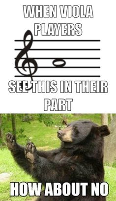 Violas don't use treble clef!!! Update ur editing skills whoever made this