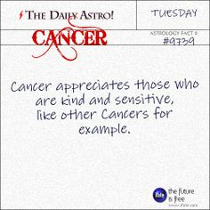 Cancer Daily Astro!: Here's an awesome free birth chart reading.  Visit iFate.com today!