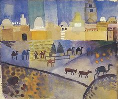 Kairouan I Art Print by August Macke at King & McGaw