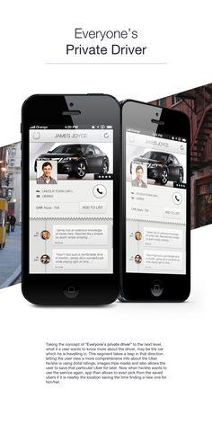 Uber: Rethinking the UI by Supriyo Roy, via Behance Acura Tsx, User Experience Design, Uber, User Interface, App Design, Concept, Behance, Application Design