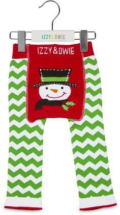 46c4051ef Red and Green Snowman, 6-12 Month Baby Leggings - Izzy and Owie -. Pavilion