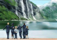 Storyboard, Illustrator, Waterfall, Layout, People, Outdoor, Outdoors, Page Layout, Illustrators