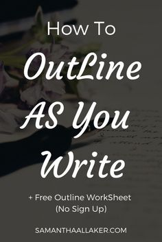 Outlining your novel as you write can increase your productivity, help you spot plot holes early and save yourself countless editing hours, plot writing + outline writing. Creative Writing Tips, Book Writing Tips, Writing Resources, Writing Help, Writing Prompts, Writing Ideas, Writing Programs, English Writing Skills, Writing Workshop