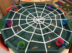 EYFS Finger gym - catching bugs spider web #playgym #play #gym #schools Nursery Activities, Rhyming Activities, Motor Skills Activities, Halloween Activities, Preschool Activities, Halloween Crafts, Incy Wincy Spider Activities, Minibeasts Eyfs, Tuff Tray Ideas Toddlers