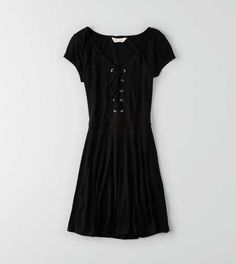 AEO Soft & Sexy Lace-Up Dress