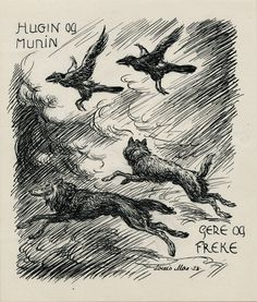 Hugin og Munin by Louis Moe | Annex Galleries Fine Prints